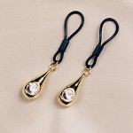 Crystal & Gold Non Piercing Nipple Jewelry