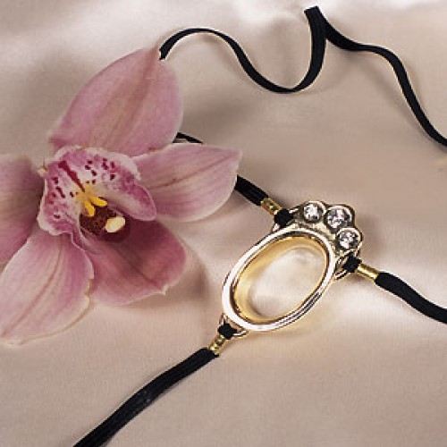 Crystal Jeweled Clitoris G-String Jewelry