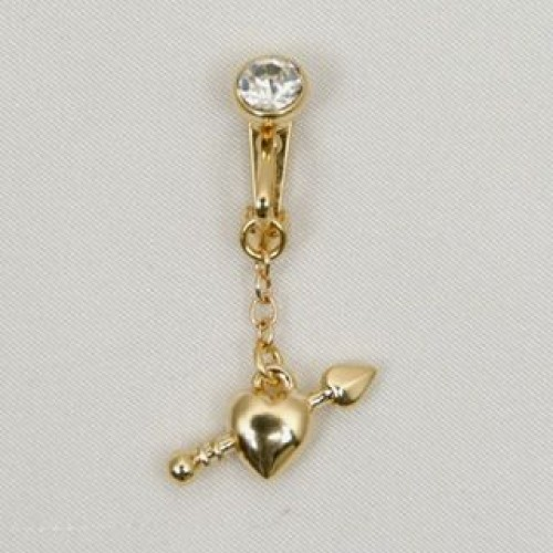 Cupid's Arrow Dangling Belly Button Rings