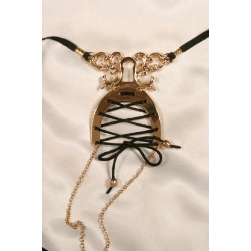 Gold Corset Labia G-String