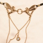 Gold Dragonfly Winged Fairy Clitoral G-String with Pendant