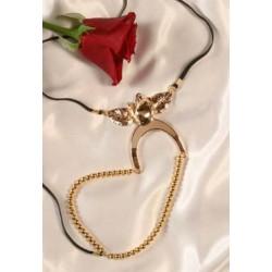 Gold Rose Labia G-String