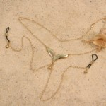 Gold Wing Nipple Necklace with Non Piercing Nipple Chains and Drop Pendants