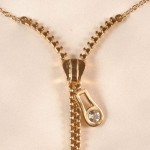 Gold Zipper Chain Nipple Necklace
