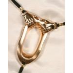 Helping Hands Gold Labia Ring G-String Jewelry