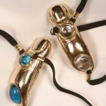 Jeweled Gold Finger Clitoral G-String