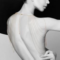Metallic Gold Chain Shoulder Jewelry