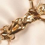 Secret Garden Goddess Clitoral Gold Pendant G-String