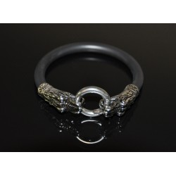 Silver Dragon Head Cock Ring