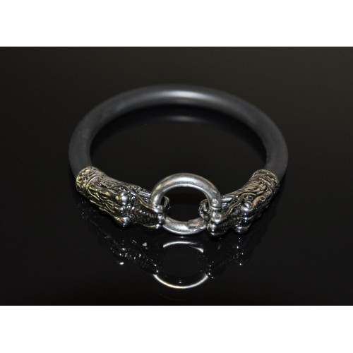 Silver Dragon Head Cock Ring