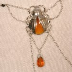 Silver Scarab Clitoral Pendant G-String Jewelry