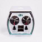 Bijoux de Nip Round Black Sequin Pasties w/ Bells