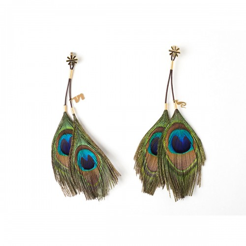 Cleopatra Peacock Earring Nipple Clamps