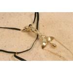 Gold Siren Feminine Goddess G-String with Clitoral Pendant