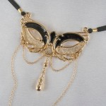 Love Mask Of Venice Gold G-String with Pleasure Pendant