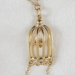 Bird Cage Non-Piercing Gold Nipple Necklace Breast Chain