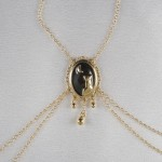 Moonlight Cameo Non-Piercing Gold Nipple Necklace Breast Chain